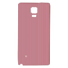 Usa Flag Red And White Stripes Galaxy Note 4 Back Case by PodArtist