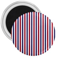 Usa Flag Red White And Flag Blue Wide Stripes 3  Magnets by PodArtist