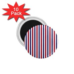 Usa Flag Red White And Flag Blue Wide Stripes 1 75  Magnets (10 Pack)  by PodArtist