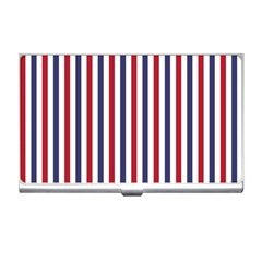 Usa Flag Red White And Flag Blue Wide Stripes Business Card Holders by PodArtist