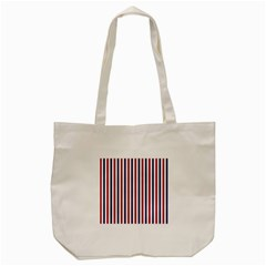 Usa Flag Red White And Flag Blue Wide Stripes Tote Bag (cream) by PodArtist