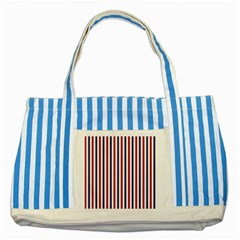 Usa Flag Red White And Flag Blue Wide Stripes Striped Blue Tote Bag by PodArtist