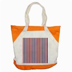 Usa Flag Red White And Flag Blue Wide Stripes Accent Tote Bag by PodArtist