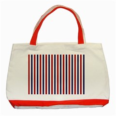 Usa Flag Red White And Flag Blue Wide Stripes Classic Tote Bag (red) by PodArtist