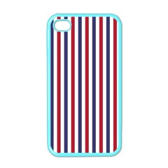 Usa Flag Red White And Flag Blue Wide Stripes Apple Iphone 4 Case (color) by PodArtist