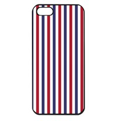 Usa Flag Red White And Flag Blue Wide Stripes Apple Iphone 5 Seamless Case (black) by PodArtist