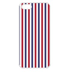 Usa Flag Red White And Flag Blue Wide Stripes Apple Iphone 5 Seamless Case (white) by PodArtist