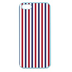 Usa Flag Red White And Flag Blue Wide Stripes Apple Seamless Iphone 5 Case (color) by PodArtist