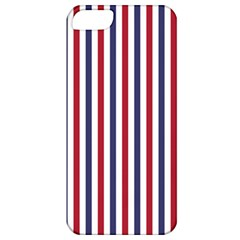 Usa Flag Red White And Flag Blue Wide Stripes Apple Iphone 5 Classic Hardshell Case by PodArtist
