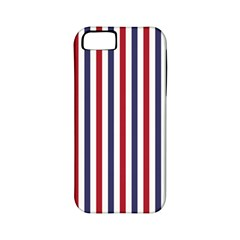 Usa Flag Red White And Flag Blue Wide Stripes Apple Iphone 5 Classic Hardshell Case (pc+silicone) by PodArtist