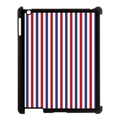 Usa Flag Red White And Flag Blue Wide Stripes Apple Ipad 3/4 Case (black) by PodArtist
