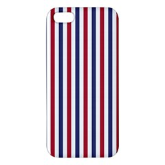 Usa Flag Red White And Flag Blue Wide Stripes Apple Iphone 5 Premium Hardshell Case by PodArtist