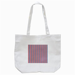 Usa Flag Red White And Flag Blue Wide Stripes Tote Bag (white) by PodArtist