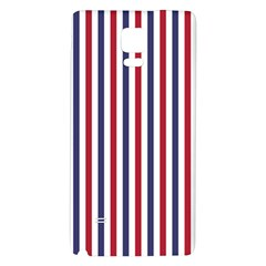 Usa Flag Red White And Flag Blue Wide Stripes Galaxy Note 4 Back Case by PodArtist
