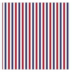 Usa Flag Red White And Flag Blue Wide Stripes Large Satin Scarf (square) by PodArtist