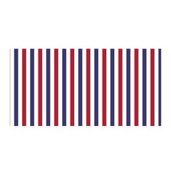 Usa Flag Red White And Flag Blue Wide Stripes Satin Wrap by PodArtist