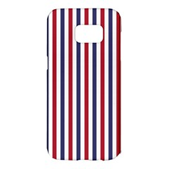 Usa Flag Red White And Flag Blue Wide Stripes Samsung Galaxy S7 Edge Hardshell Case by PodArtist