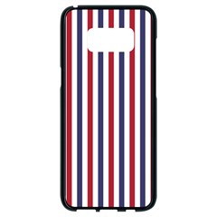 Usa Flag Red White And Flag Blue Wide Stripes Samsung Galaxy S8 Black Seamless Case by PodArtist