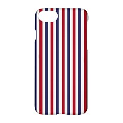 Usa Flag Red White And Flag Blue Wide Stripes Apple Iphone 8 Hardshell Case by PodArtist