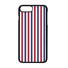 Usa Flag Red White And Flag Blue Wide Stripes Apple Iphone 8 Plus Seamless Case (black) by PodArtist