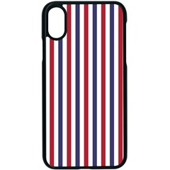 Usa Flag Red White And Flag Blue Wide Stripes Apple Iphone X Seamless Case (black) by PodArtist