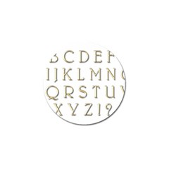 Letters Gold Classic Alphabet Golf Ball Marker (4 Pack)