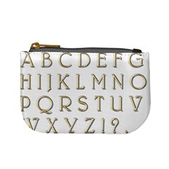 Letters Gold Classic Alphabet Mini Coin Purses by Sapixe