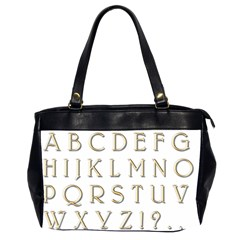 Letters Gold Classic Alphabet Office Handbags (2 Sides)  by Sapixe