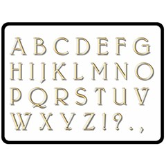 Letters Gold Classic Alphabet Double Sided Fleece Blanket (large)