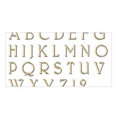 Letters Gold Classic Alphabet Satin Shawl by Sapixe