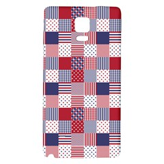 Usa Americana Patchwork Red White & Blue Quilt Galaxy Note 4 Back Case by PodArtist