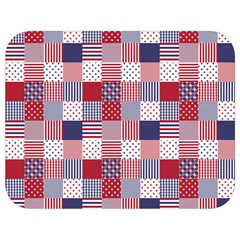 Usa Americana Patchwork Red White & Blue Quilt Full Print Lunch Bag by PodArtist
