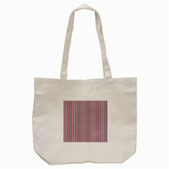 Usa Flag Red And Flag Blue Narrow Thin Stripes  Tote Bag (cream) by PodArtist