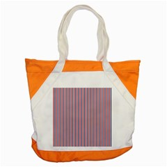 Usa Flag Red And Flag Blue Narrow Thin Stripes  Accent Tote Bag by PodArtist