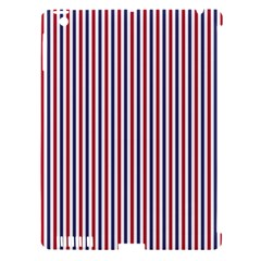 Usa Flag Red And Flag Blue Narrow Thin Stripes  Apple Ipad 3/4 Hardshell Case (compatible With Smart Cover) by PodArtist