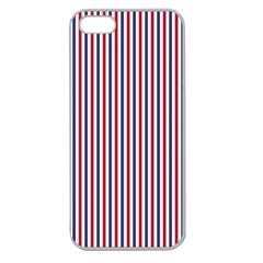 Usa Flag Red And Flag Blue Narrow Thin Stripes  Apple Seamless Iphone 5 Case (clear) by PodArtist