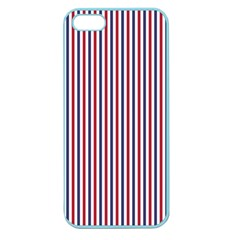 Usa Flag Red And Flag Blue Narrow Thin Stripes  Apple Seamless Iphone 5 Case (color) by PodArtist