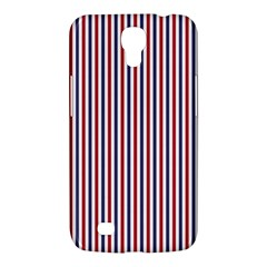 Usa Flag Red And Flag Blue Narrow Thin Stripes  Samsung Galaxy Mega 6 3  I9200 Hardshell Case by PodArtist