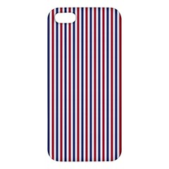 Usa Flag Red And Flag Blue Narrow Thin Stripes  Iphone 5s/ Se Premium Hardshell Case by PodArtist