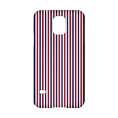 Usa Flag Red And Flag Blue Narrow Thin Stripes  Samsung Galaxy S5 Hardshell Case  by PodArtist
