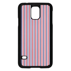 Usa Flag Red And Flag Blue Narrow Thin Stripes  Samsung Galaxy S5 Case (black) by PodArtist