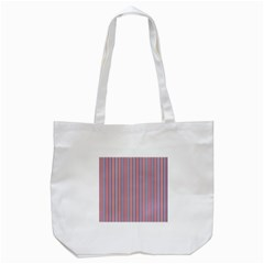 Usa Flag Red And Flag Blue Narrow Thin Stripes  Tote Bag (white) by PodArtist