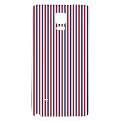 Usa Flag Red And Flag Blue Narrow Thin Stripes  Galaxy Note 4 Back Case by PodArtist
