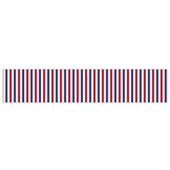 Usa Flag Red And Flag Blue Narrow Thin Stripes  Small Flano Scarf by PodArtist