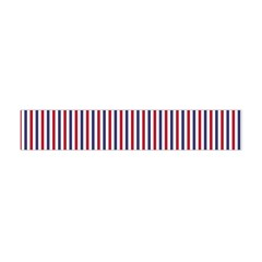 Usa Flag Red And Flag Blue Narrow Thin Stripes  Flano Scarf (mini) by PodArtist