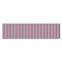 Usa Flag Red And Flag Blue Narrow Thin Stripes  Satin Scarf (oblong) by PodArtist