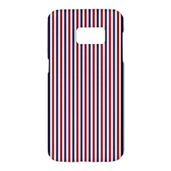 Usa Flag Red And Flag Blue Narrow Thin Stripes  Samsung Galaxy S7 Hardshell Case  by PodArtist