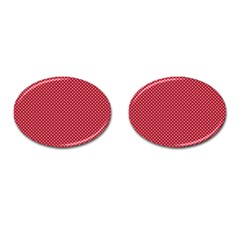 Usa Flag White Stars On Flag Red Cufflinks (oval)