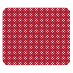 Usa Flag White Stars On Flag Red Double Sided Flano Blanket (small)