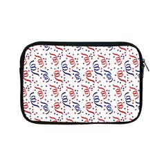 Red White And Blue Usa/uk/france Colored Party Streamers Apple Ipad Mini Zipper Cases by PodArtist